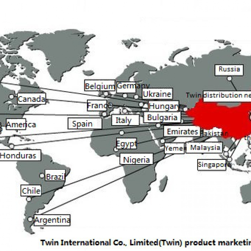 Twin International Co., Limited(Twin) product marketing network
